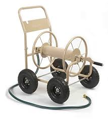 garden products. liberty garden products 870-m1-2 industrial 4-wheel hose reel cart n