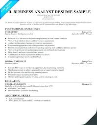 Sample Resume For Business Analyst Awesome System Analyst Sample Resume Beauteous Resume Sample For Business