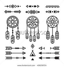 What Native American Tribes Use Dream Catchers Native American Indian Design Elements Set Stock Vector 100 50