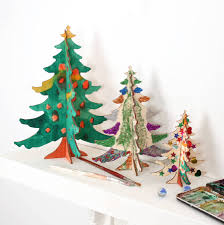 Diy Christmas Tree Craft Diy Christmas Tree Table Decorations By Bombus