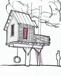 tree house plans several different designs fort hut playhouse Architecture House Plans Book sky barn is a tree house designed by channing glover for his son and for a House Blueprint Architecture