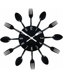 Small Picture Deal Alert Contemporary Kitchen Wall Clock Knife Fork Spoon Clock