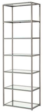 Glass shelves bookcase Metal 33480 Add To Cart Bookcases Contemporary Metal Bookcase With Glass Shelves Beds More Coaster Bookcases Contemporary Chromeweathered Grey Bookcase With