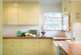 Yellow Kitchen Countertops Delighful Yellow And White Painted Kitchen Cabinets Full Size Of
