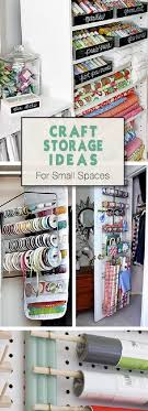 keep your craft supplies organized and at one place where you can find them in time with these craft storage ideas for small spaces