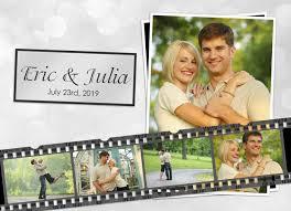 Collage Wedding Invitations Film Strip Photo Wedding Invitations Photo Card Chef