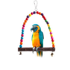 colorful bird toy parrot swing cage toys for parakeet cockatiel lovebird budgie 663900319223