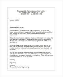 Award Recommendation Letter Sample     Recommendation Letter