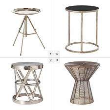 incredible round metal side table with metal round side table