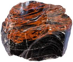 typical obsidian is either black or slightly reddish and often demonstrates beautiful conchoidal fracture width of sample 11 cm
