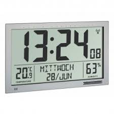 office wall clock. Brilliant Office TFA Xl Radio Controlled Wall Clock With Temperature U0026 Humidity 368cm Intended Office E