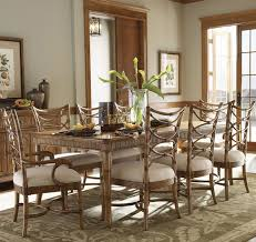 ine piece boca grande rectangular leg table u0026 sanibel bent rattan chairs set tropical dining room tropical dining room furniture 257 room