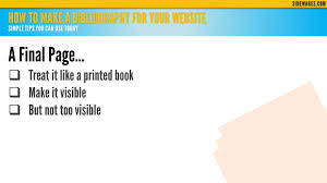 How To Make A Bibliography For Your Website Powerpoint S Flickr