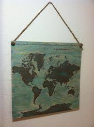 world map wall hanging travel map indoor or outdoor