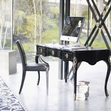 elegant home office desks furniture. Elegant Home Office Decor Ideas With Classic Furniture Modern Interior Sopihisiticated Computer PC At The Top Surounded By Wide Thrilling Windows Desks T