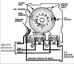 need help wiring an intermatic wh40 water heater time switch into as i am reading the diagram no neutral needed line to 1 and 3 2 and 4 to load