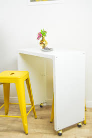 diy kitchen island bar.  Kitchen IKEA Hack Rolling Kitchen Island Or Bar  Wwwclubcraftedcom To Diy
