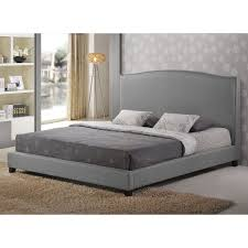 amazoncom baxton studio aisling fabric platform bed queen gray