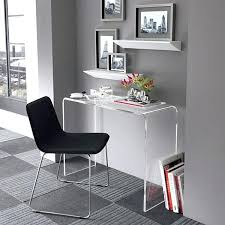clear office desk. Madison Clear Glass Computer Desk Nice Looking Acrylic Home Office Desks For Your Interior . 4