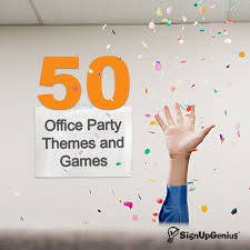 50 Office Party Themes Tips And Games Business Workplace