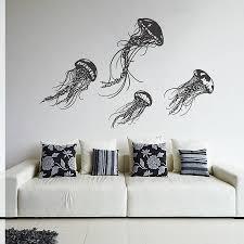 wall art ideas design grey oakdene jellyfish wall art decoration white sofa black pillow square contemporary living room unique design jellyfish metal
