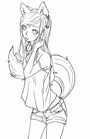 Small Picture Best Photos Of Anime Fox Coloring Pages Cute Anime Chibi Cat