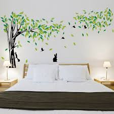 large green tree wall sticker vinyl living room wall stickers home wall decor poster vinilos paredes