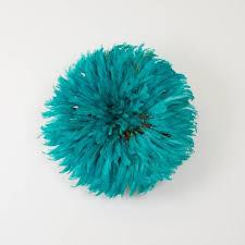 bamileke juju hat l turquoise l wall