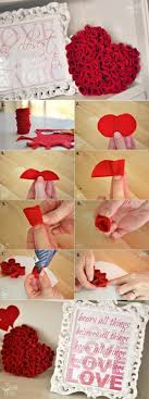 Felt Roses Heart - DIY. Heart PillowDiy Rose ...