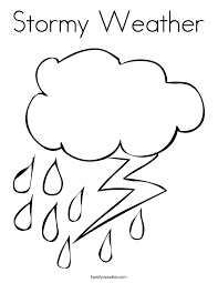Small Picture Stormy Weather Coloring Page Twisty Noodle