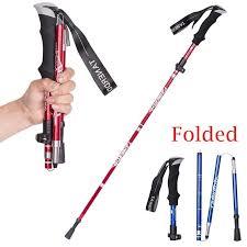 Ultralight <b>Trekking</b> Poles Folding Aluminum Alloy <b>Hike Walking Stick</b> ...