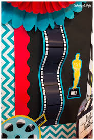 the filmstrip cutout was designed to either use as a bulletin board border or a cutout i stapled the filmstrip together and gave my board a 3d effect by