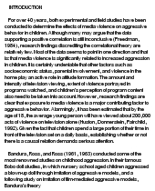 essays media violence the influence of media violence on the youth media essay