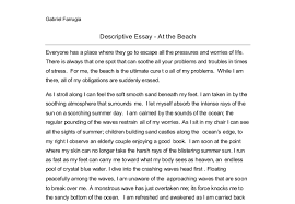 description of a beach essay co description