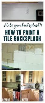 Removing Tile Backsplash Impressive How To Paint A Tile Backsplash Blogger Home Projects We Love