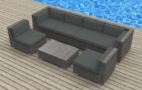 Delighful Modern Wicker Patio Furniture Ultra Set E Inside Ideas