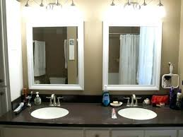 black framed bathroom mirrors. Large Black Framed Mirror Round Wall Size Of Bathroom Mirrors B