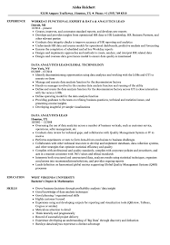 Tableau Sample Resumes Data Analytics Lead Resume Samples Velvet Jobs 8