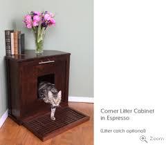 corner cat litter box furniture. Corner Litter Cabinet Cat Box Furniture O