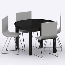 ikea bjursta bernhard table chairs