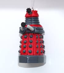 Doctor Who Red Dalek Blow Mold Christmas Ornament
