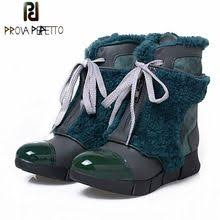 <b>Prova Perfetto</b> Genuine Leather With Fur Front Zipper <b>Snow</b> Boots ...