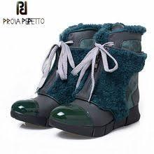 <b>Prova Perfetto</b> Genuine Leather With <b>Fur</b> Front Zipper Snow Boots ...