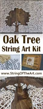 DIY Projects: Inverse Oak Tree String Art Kit