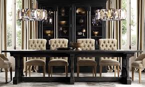 dining room lighting restoration hardware small trestle dining table