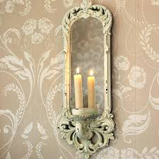 mirror candle wall sconce candle wall sconces with mirror ornate cream wall mirror with candle sconce