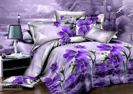 Purple Orchid Flower Unique Duvet/Quilt Cover Modern Queen 3d ... & Purple orchid Flower unique 4pcs Duvet/quilt cover modern queen 3d bedding  set bedclothes bed sheet bedlinen sets luxury bed set Adamdwight.com