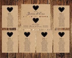 Wedding Seating Chart Editable Text Rustic Kraft Wedding