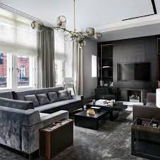 Grey Tone Bachelor Pad Living Room Manly Design Ideas