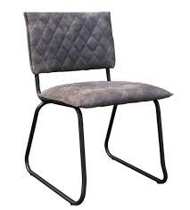 4x Stuhl Keda Esszimmerstuhl Kunstleder Grau